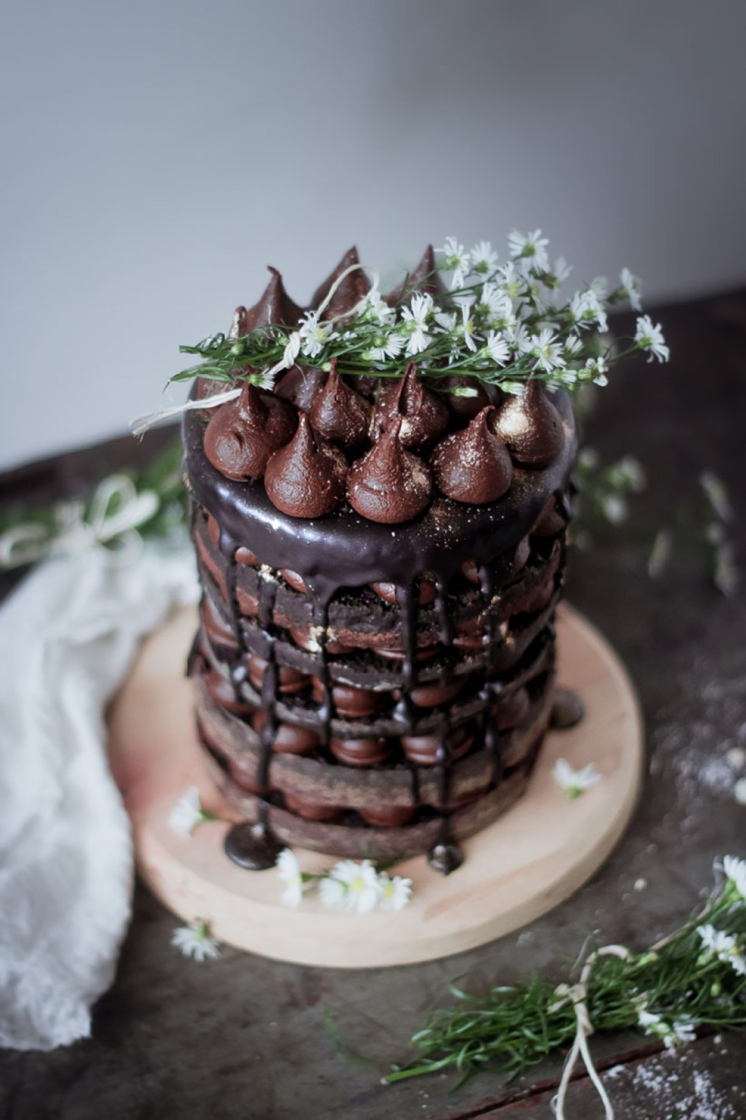 naked layer chocolate cake