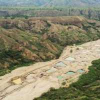 Colombia: desaparece río por completo, deja al descubiero la mineria ilegal