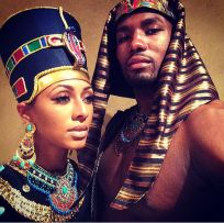 keri-hilson-as-queen-nefertiti-and-serge-ibaka-as-pharaoh-akhenaten-halloween-2014-2