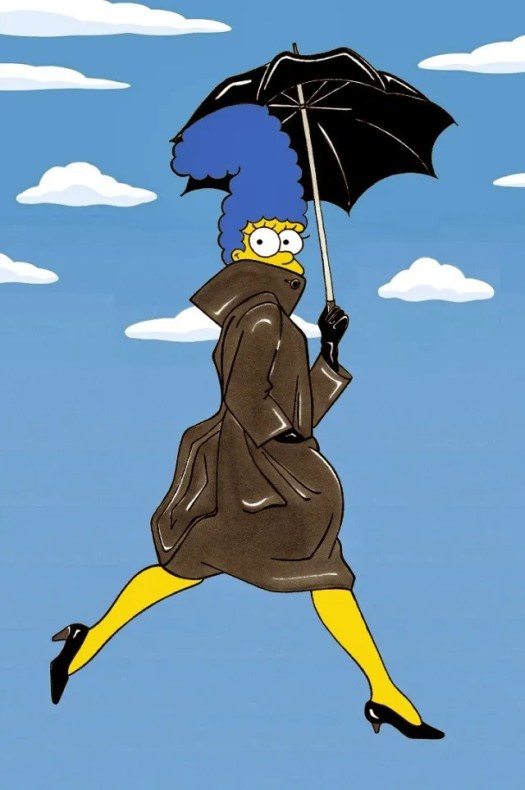 Marge Simpson Avedon Campaign Art Cartoon Illustration Satire Sketch Fashion Luxury Style Iconic Shot Dresses all the time The simspsons  Humor Chic by aleXsandro Palombo