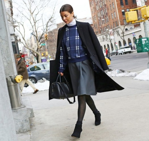 Acne Studios top, Balenciaga skirt, and Como coat - annina mislin