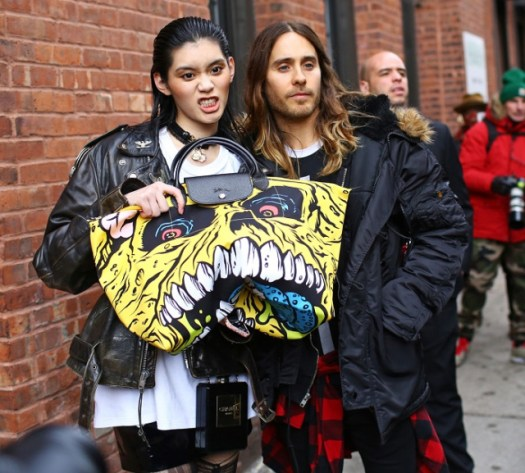 Ming Xi and Jared Leto - jeremy scott x longchamp bag