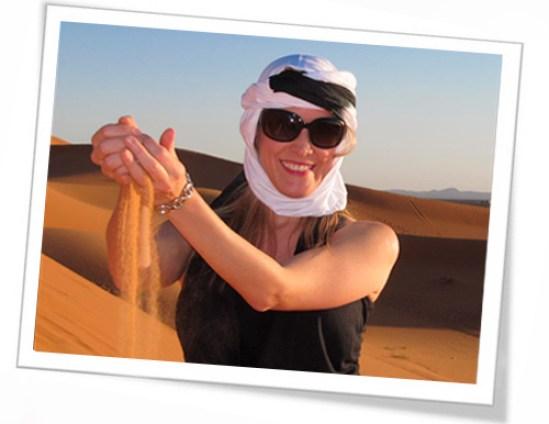 Victoria visitando Marrocos