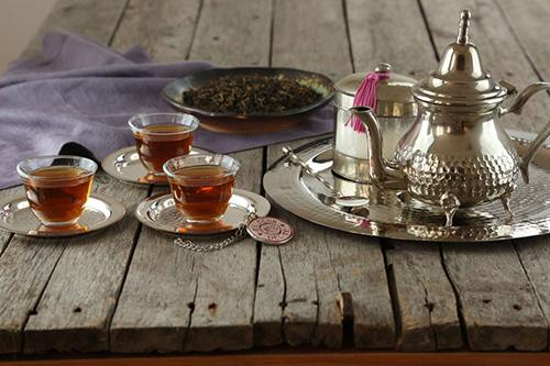Tazas para la cata de té negro