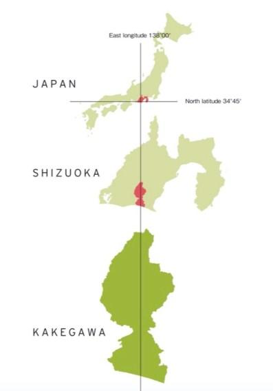 Mapa de Kakegawa
