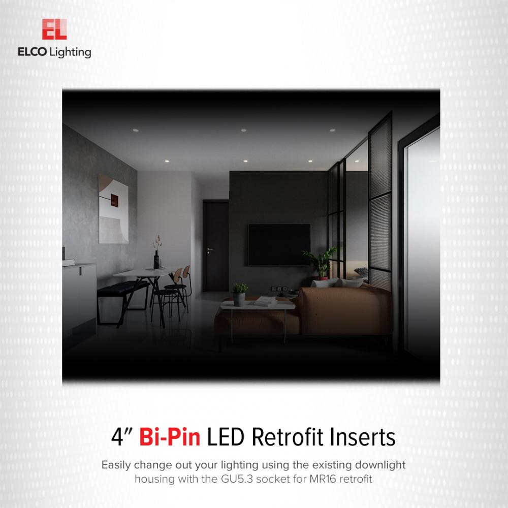 4 led bi pin retrofit insert reflector