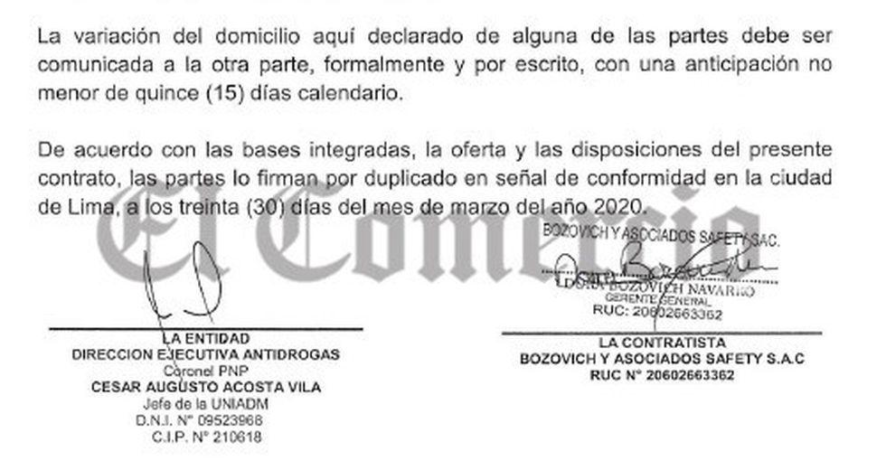 Madre del teniente Leonardo Oblitas firmó el contrato con Dirandro