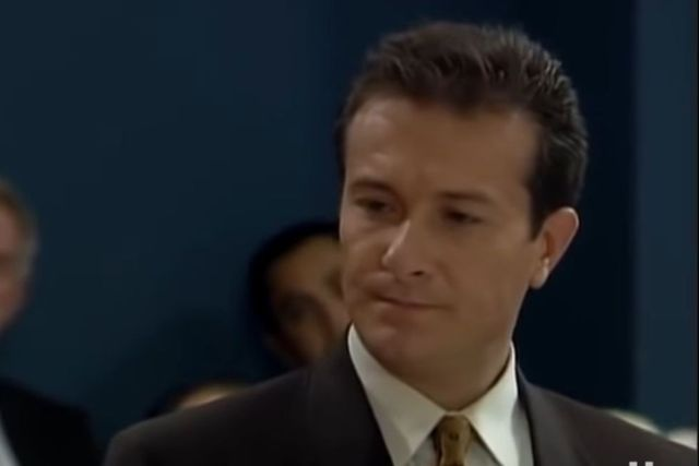 Arturo Peniche in the role of lawyer Serrano (Photo: Televisa)