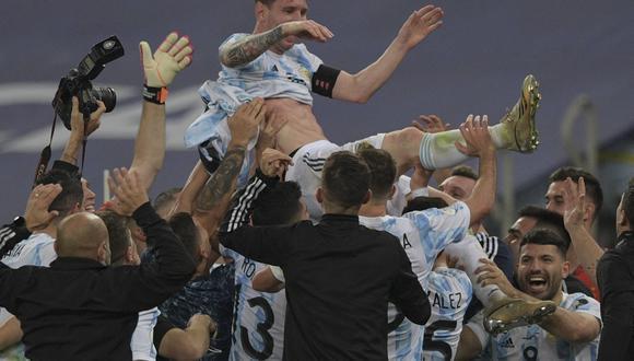 Argentina se consagró campeón de la Copa América después de 28 años. (Foto: AFP)