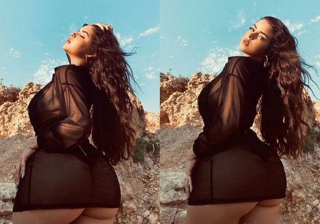 La tenue noire que Demi Rose portait pour se promener à Ibiza est la plus sensuelle.  (Photo: Instagram)