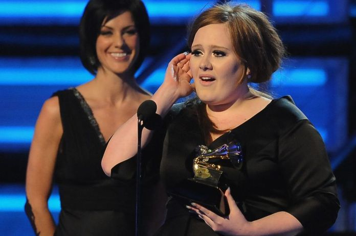 Adele wins her first Grammy for Best New Artist during the 51st annual Grammy awards held at Staples Center in Los Angeles on February 8, 2009 (Photo: AFP)