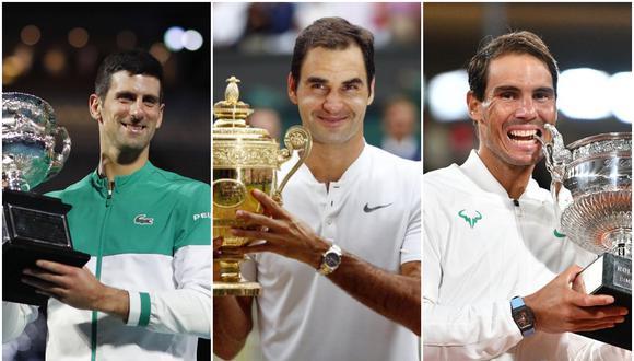 ¿Cómo va la carrera por más títulos de Grand Slam?  Foto: agencias