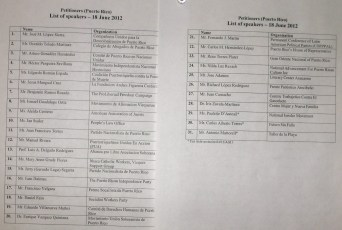 List of Petitioners PR UN Hearing
