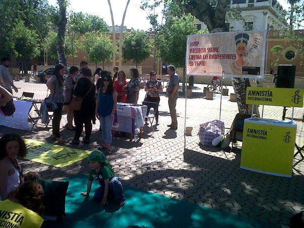 Amnistia Internacional se moviliza en sevilla