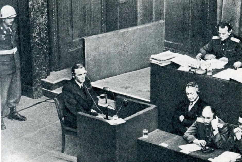 Paulus durante los juicios de Nuremberg