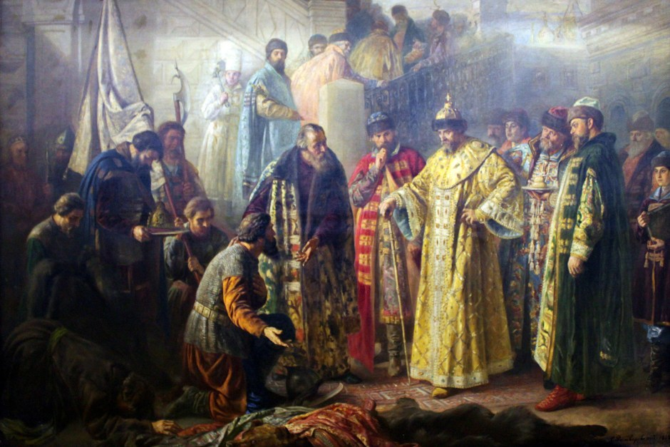Ivan the Terrible, obra de S. Rostvorovski (1858-1888) Museo de Bellas Artes de Ekaterimburgo