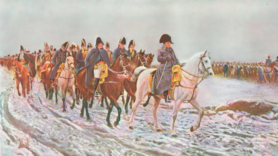 La Grande Armée de Napoleón despues su derrota militar en Rusia, obra de Jean-Louis-Ernest Meissonier