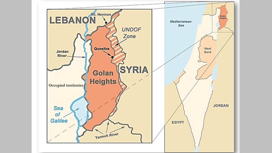mapa golan