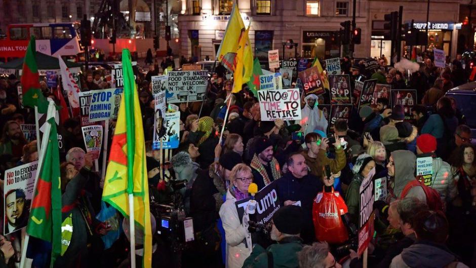 marcha anti otan y anti trump en londres