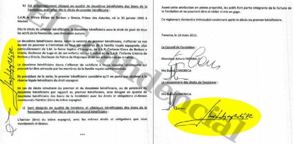 El documento secreto que incrimina el rey Juan Carlos I