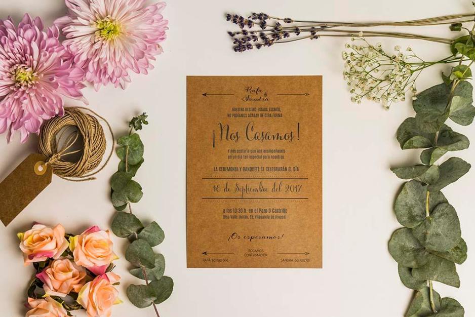 Texto para invitaciones de boda 3