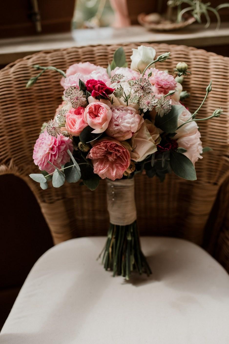 Ramo de novia romántico vintage