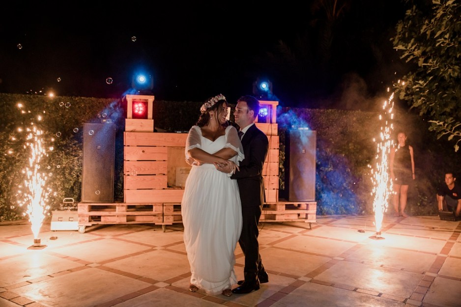 baile novios boda romantica vintage