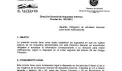 cambio de direccion para recibir notificaciones del ministerio de hacienda, llenado del formulario f211