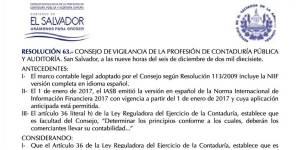 resoluciones 2017 cvpcpa, reglamento de ley de contaduria el salvador, niif adoptadas en el salvador, descargar las niif vigentes