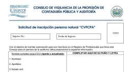 requistos para ser autorizado como auditor, solicitud de inscripcion de auditor en el cvpcpa