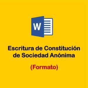 descargar formatos de escritura de constitucion de empresas