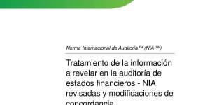 cambios en las nias 2018, descargar normas de auditoria en español el salvador