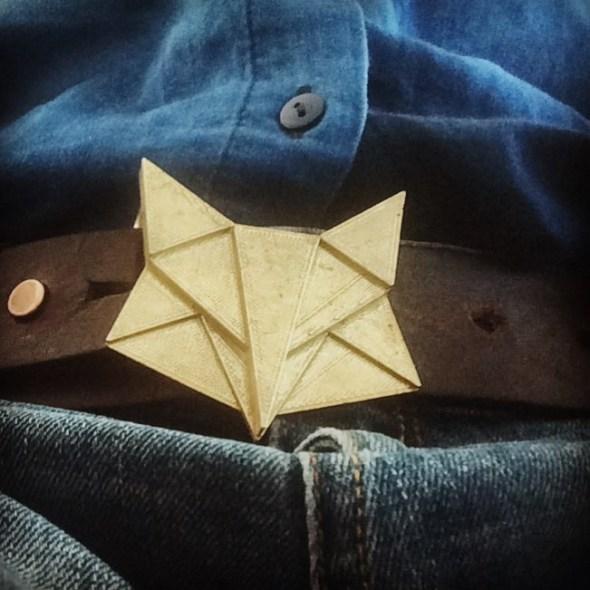 Hebilla de correa en forma de zorro impreso en 3D
