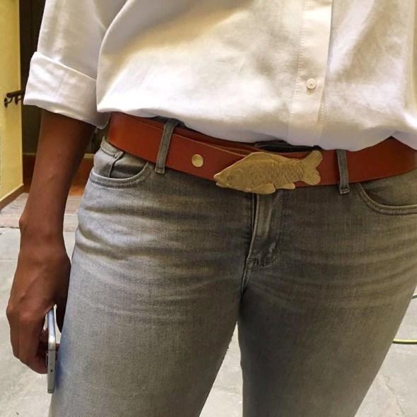 Hebillas cinturón western en forma de carpa