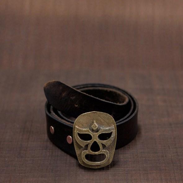 Cierres de cinturón con forma de luchador mexicano