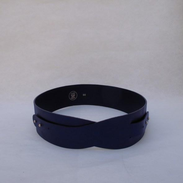 """""""LOTO"""" cinturón piel azul brillo"""