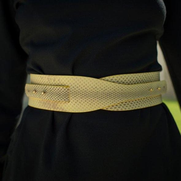 """""""LOTO"""" cinturón serpiente amarillo"""