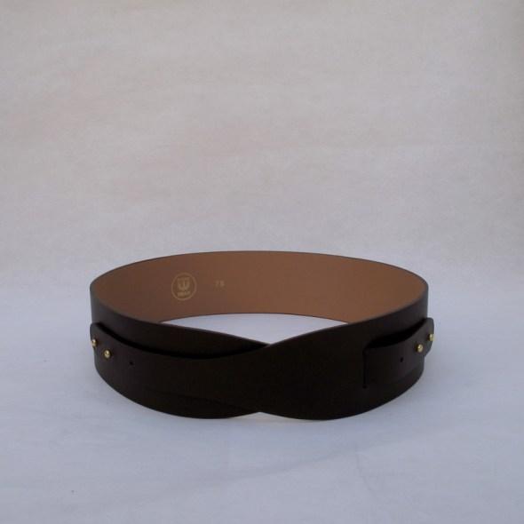 """""""LOTO"""" cinturón piel marrón chocolate"""