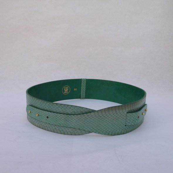 """""""LOTO"""" cinturón serpiente turquesa"""