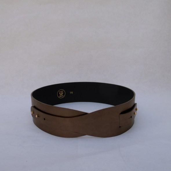 """""""LOTO"""" cinturón piel bronce"""