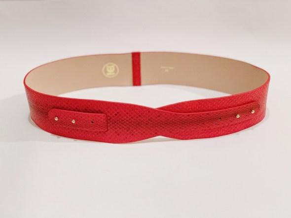 """""""Loto"""" cinturón serpiente rojo Marlboro"""