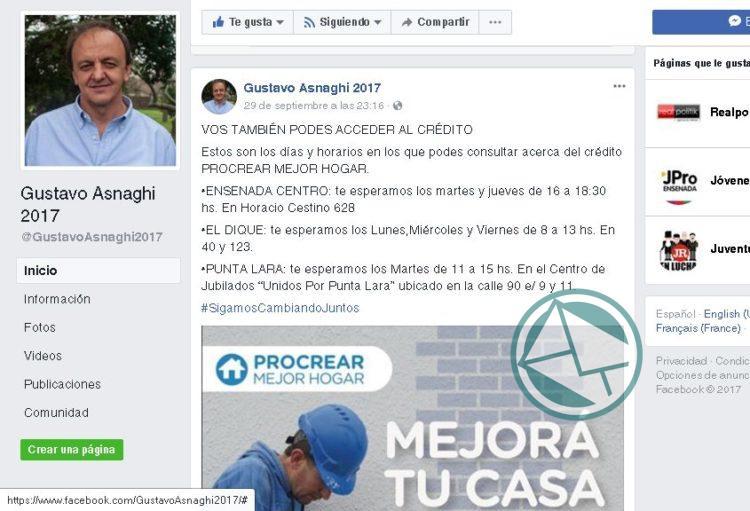 """Gustavo Asnaghi: """"Nos dan herramientas desde provincia y lo aprovechamos"""""""