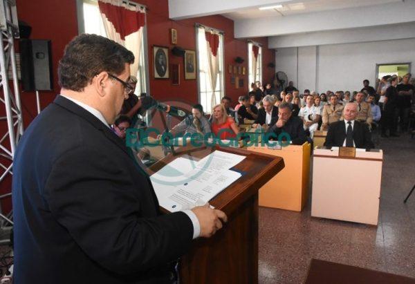 Nedela hizo hincapié en sus 38 meses de gestión en el discurso inaugural del Concejo Deliberante 11