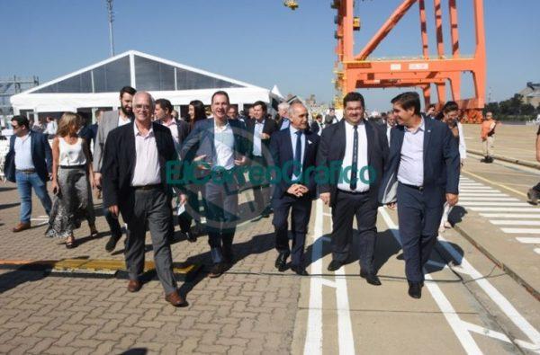 Nedela participó del inicio de actividades en la Terminal de Contenedores de TecPlata en Berisso 1