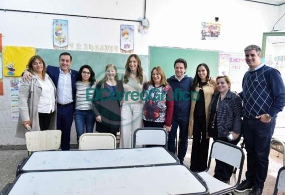 Vidal visitó una secundaria de La Mantaza por ser el establecimiento 5000 en conectividad 05
