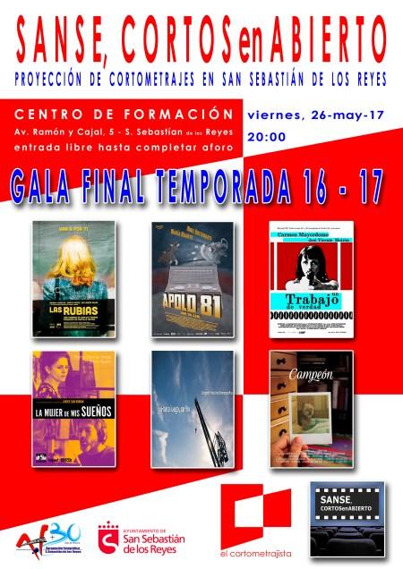 Cartel Sanse Cortos en Abierto 26-05-17