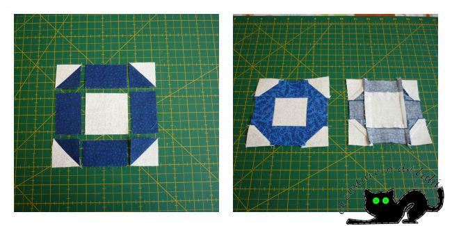 Coloca las piezas de esta forma y ten cuidado al coser con las costuras