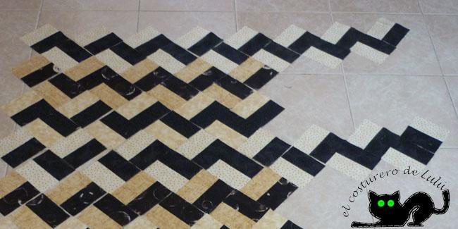 Ampliación del quilt en zig-zag