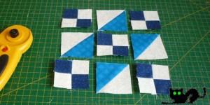 Colocamos todas las piezas antes de volver a coser