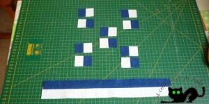 Cuadrados formados por cuadrados a partir de una tira